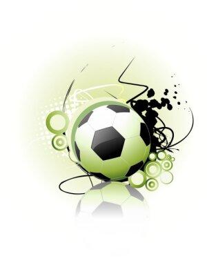 Póster Arte del vector Fútbol