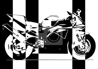 Arte pop Moto en noir et blanc