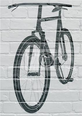 Arte urbain, bicyclette.
