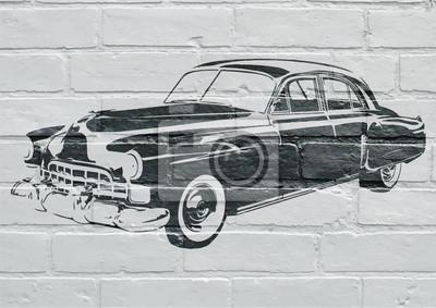 Arte urbain, voiture américaine vintage