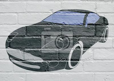 Arte urbain, voiture de sport