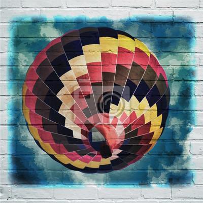 Arte urbano. Montgolfière