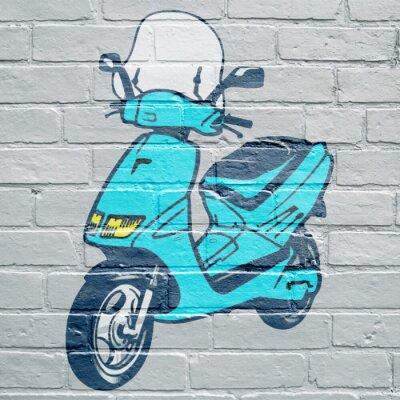 Arte urbano, scooter