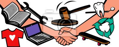 artículos ucción apretón de manos acuerdo de intercambio de intercambio