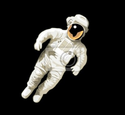 astronauta en bg negro