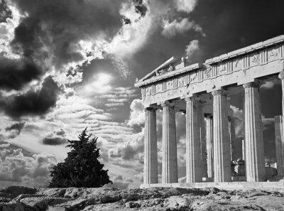 Póster Atenas - La Acrópolis y hermoso cloudscape