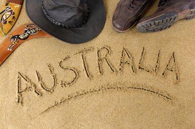 Póster Australia fondo