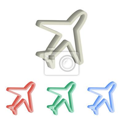 Avión 3d iconos vectoriales isométricos.