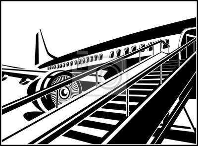 Avión a reacción esperando pasajeros