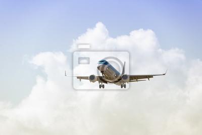 Avión con cielo hermoso