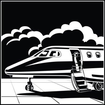 Avión de negocios moderno