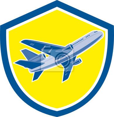 Avión de pasajeros del avión de reacción de las aerolíneas Retro