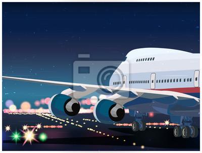 Avión de pasajeros despegando