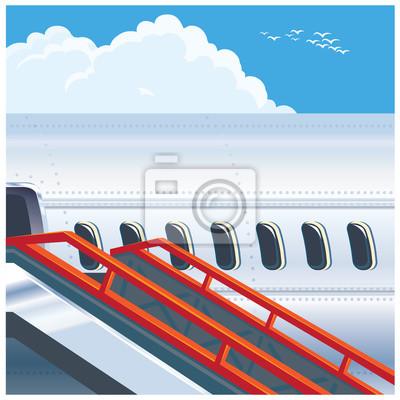 Avión de pasajeros moderno