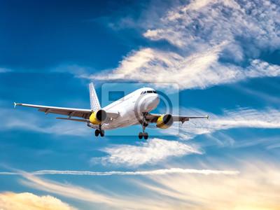 Avión durante el aterrizaje