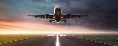 Póster Avión en vuelo