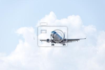 Avión, hermoso, cielo