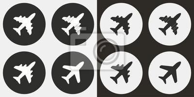 Avión - icono de vector.
