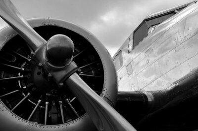 Póster Avion una hélice