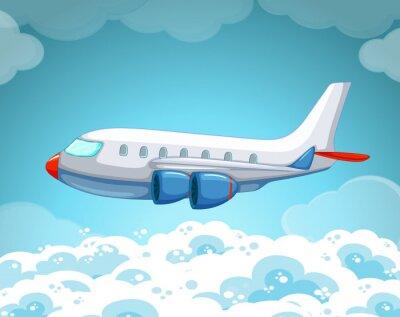 Póster Avión volando en el cielo