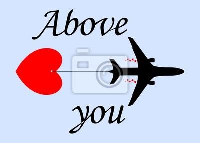 Avión y el corazón