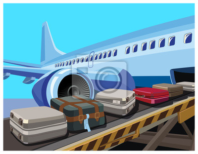 Aviones civiles y equipaje