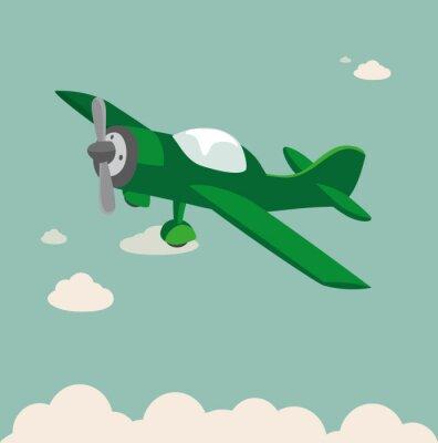 Póster aviones de hélice de la