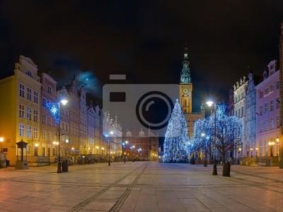 Ayuntamiento Gdansk en la noche