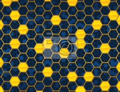 Azul y Oro Honey Comb NO Repitiendo el modelo de fondo