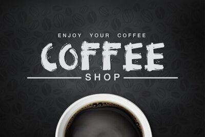Póster backgrond café