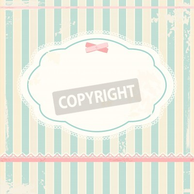 Póster  background in shabby chic style