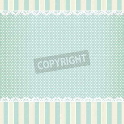 Póster background in style shabby chic