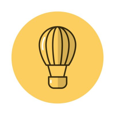 balloon air hot block style icon
