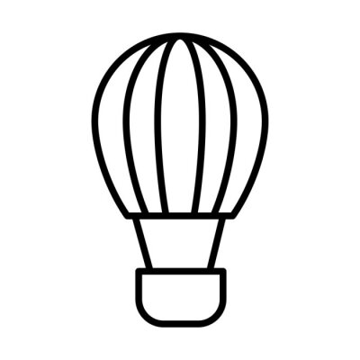 balloon air hot line style icon