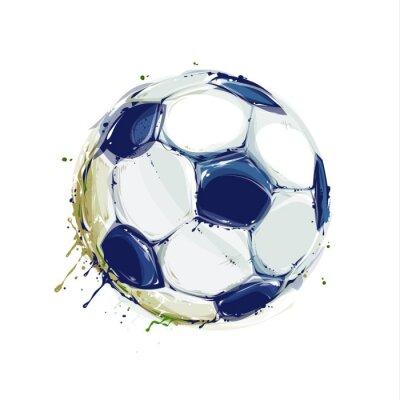 Póster Balón de fútbol de Grunge