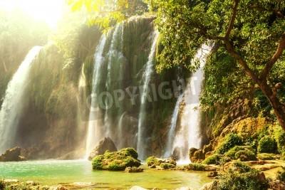 Póster Ban Gioc - Detian Cascada en Vietnam