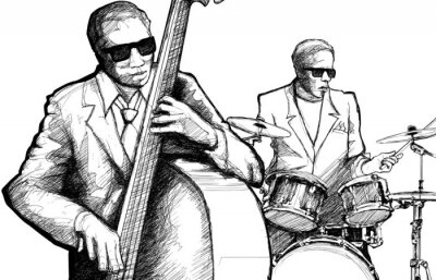 Póster Banda de jazz