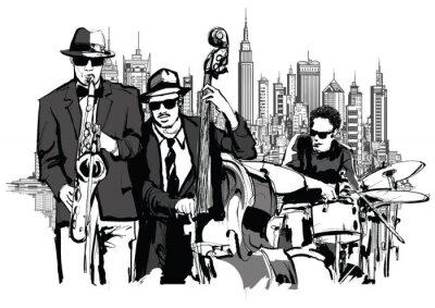 Póster Banda de Jazz en Nueva York