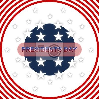 Bandera americana - Día de los Presidentes