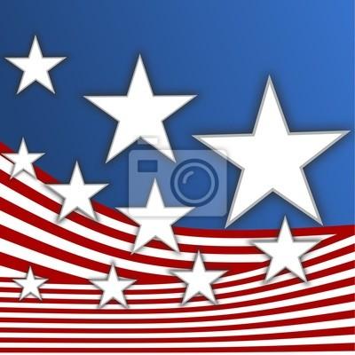 Bandera americana - estrellas