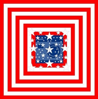 Bandera americana - forma cuadrada
