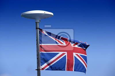 Bandera británica en un mástil