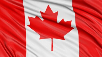 Póster Bandera de 3D Canadá