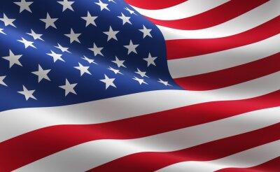 Póster Bandera de los Estados Unidos de América