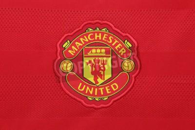 Póster BANGKOK, Tailandia - el 21 de agosto de 2015: el Manchester United club de fútbol en un jersey oficial del club en agosto 21,2015 en Bangkok, Tailandia. Red devils está listo para la próxima temporada