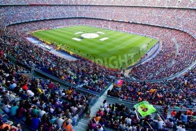 Póster BARCELONA, ESPAÑA - 13 de mayo de 2011: no identificados del FC Barcelona celebran la victoria española del campeonato de la Liga en el estadio Camp Nou.
