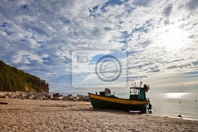 Barco de pesca en Orlowo, Polonia.
