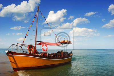 Barco en el Caribe