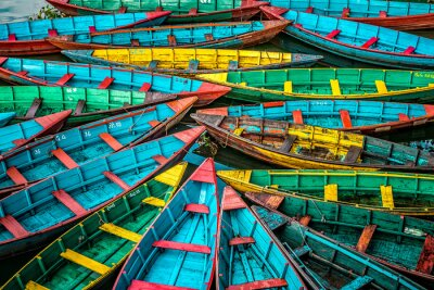 Póster Barcos coloridos