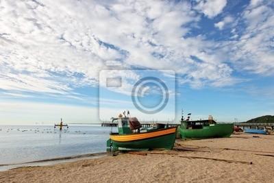 Barcos de pesca en Orlowo, Polonia